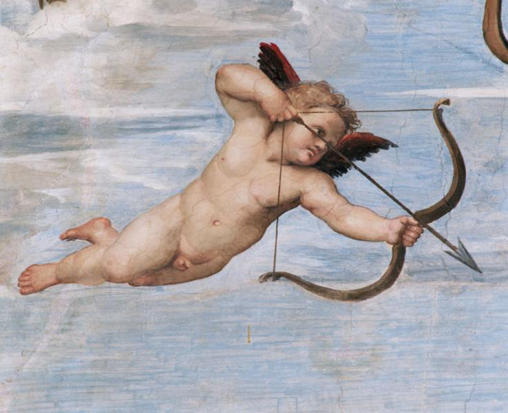 Detail of Fresco Depicting Cupid In Flight