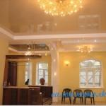 Гостиная комната с французским потолком фото