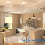 Потолки натяжные для кухни фото