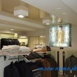 Посмотреть натяжные потолки фото для магазина
