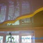 Натяжной потолок двухуровневый фото