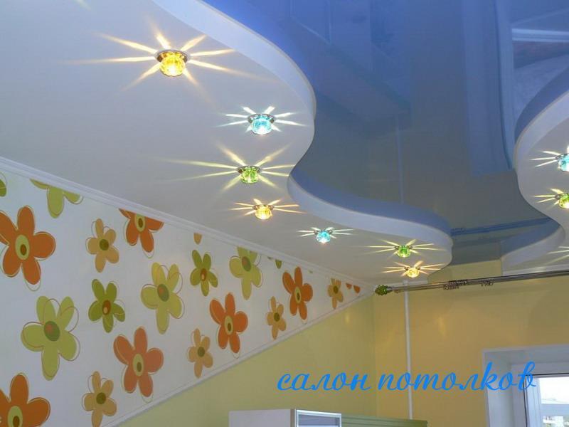 Освещение в натяжной потолок цена
