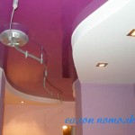 Двухуровне потолки фото