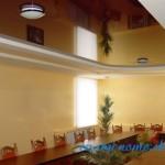 Многоуровневые натяжные потолки в ванной фото