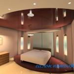 Натяжные потолки фото спальни