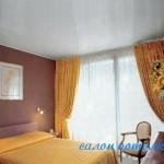Потолки із гіпсокартону в спальні