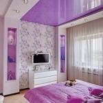 Натяжные потолки спальня фото