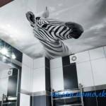 Натяжной потолок в ванной комнате фото