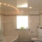 Потолки в ванной фото