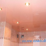 Натяжные потолки фото для ванной комнаты
